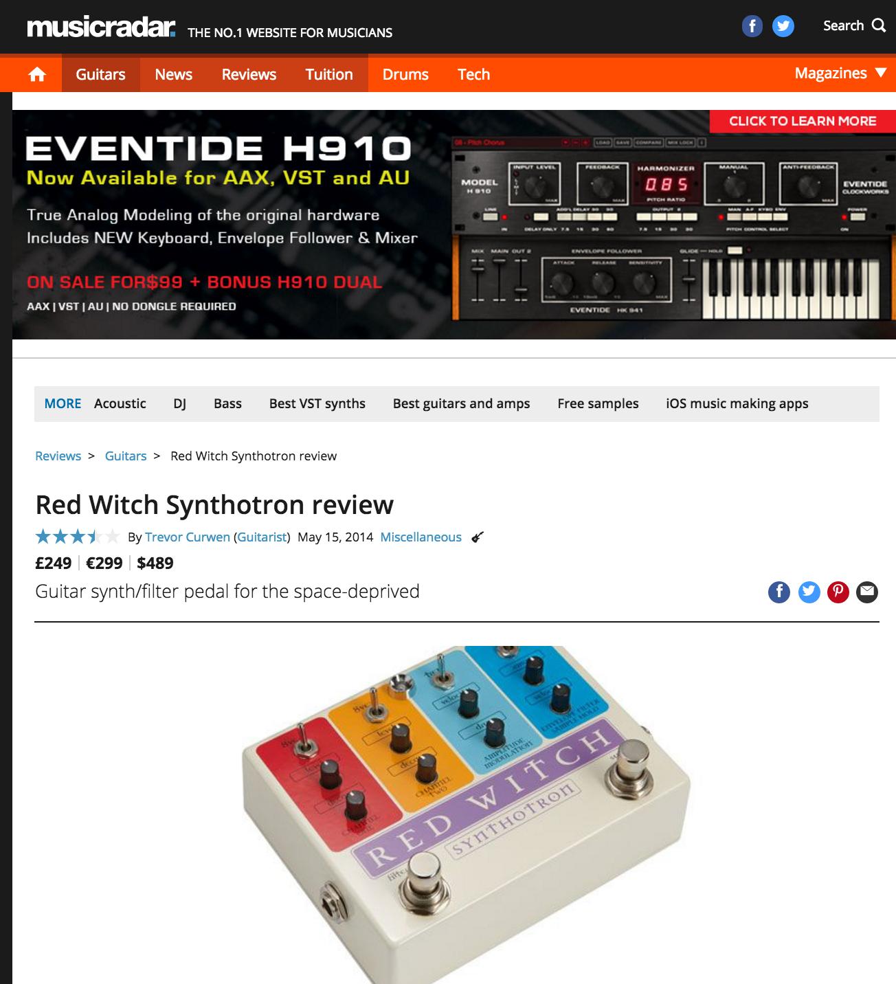 Music Radar - Synthotron