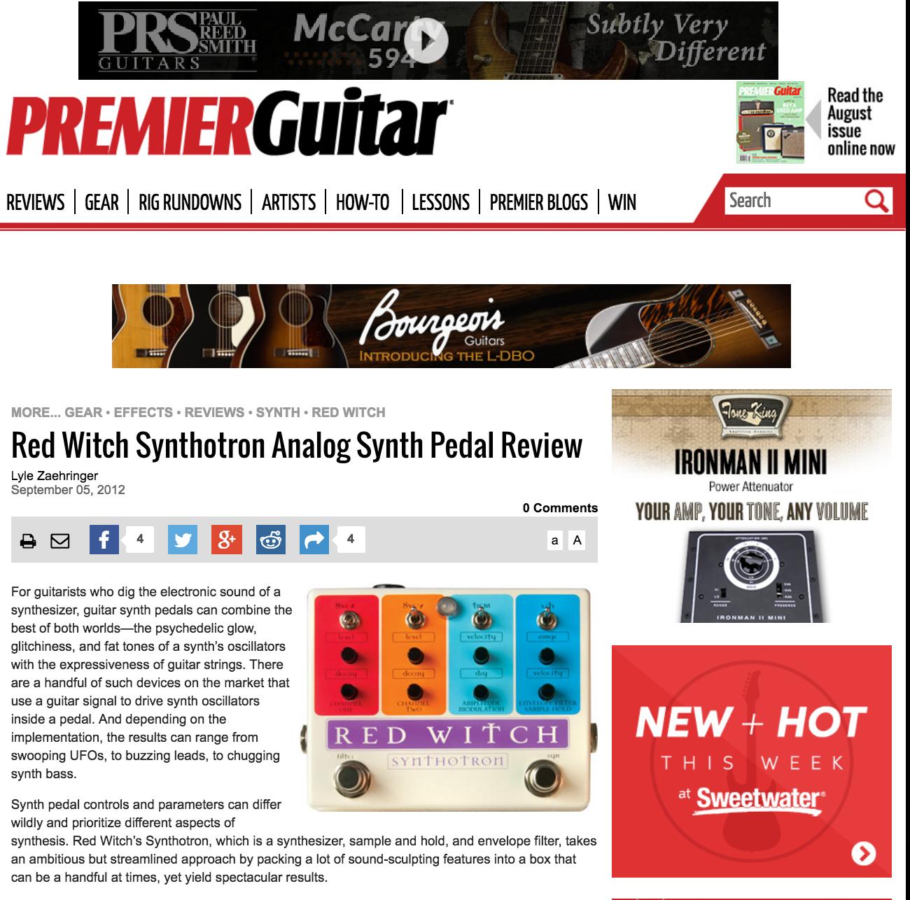 Premier Guitar - Synthotron