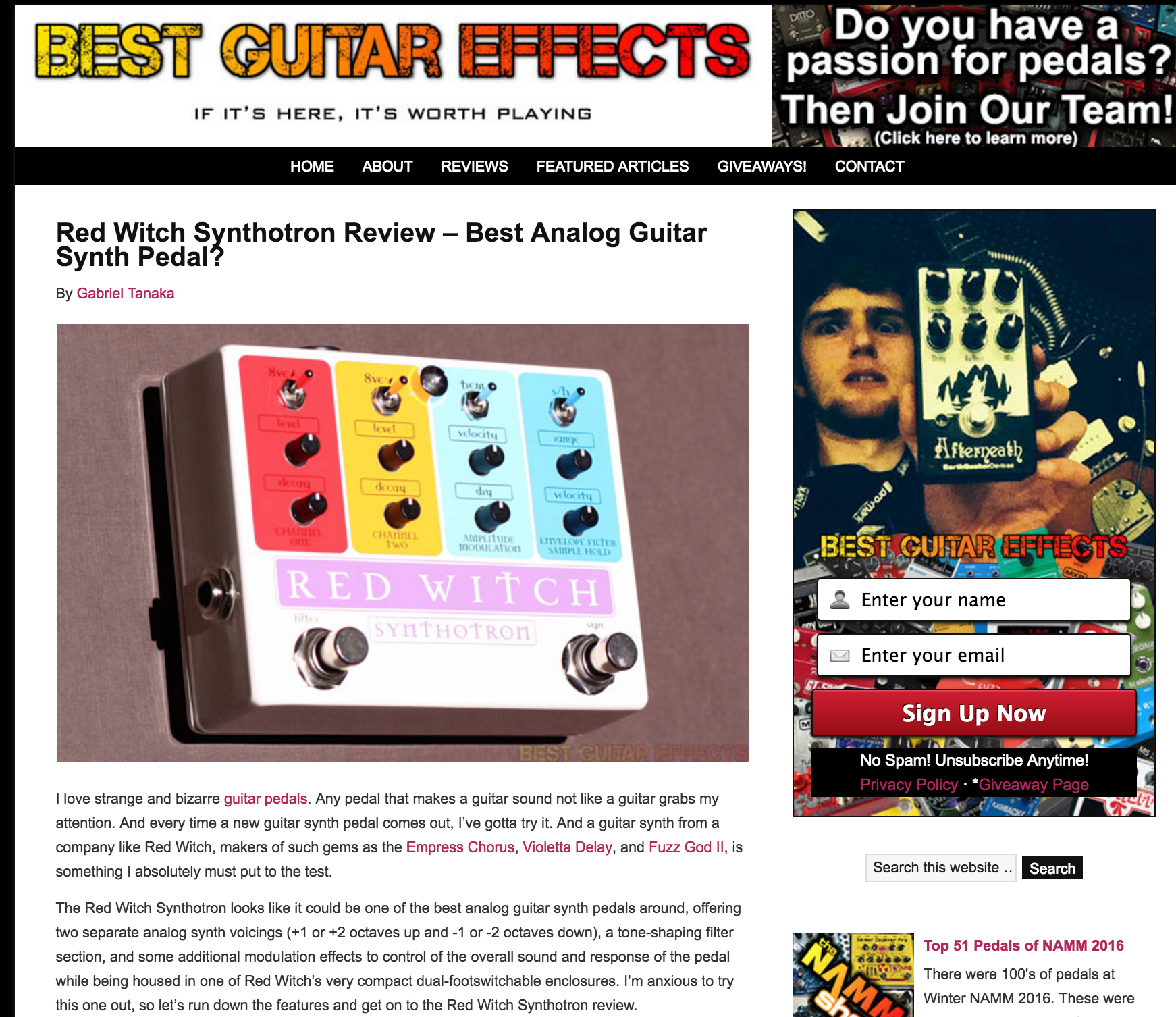 Best Guitar Effects - Synthotron