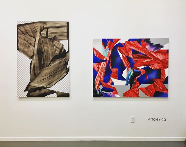 """""""What Is Contemporary?"""" and """"Transparent"""" looking fantastic together! #mateuszpiestrak #mitchplusco #sohogallery #contemporaryart #fineart #artcollector #nyc"""