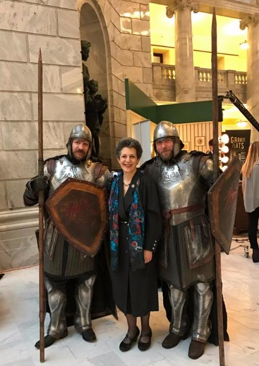 Actors Adam Johnson & David Powell showed up well-dressed at the Capitol