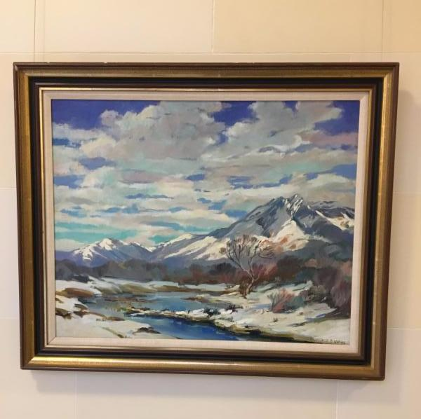 Mackerel Cloud  is a 1945 piece by Florence E. Ware, who painted the murals in Kingsbury Hall.