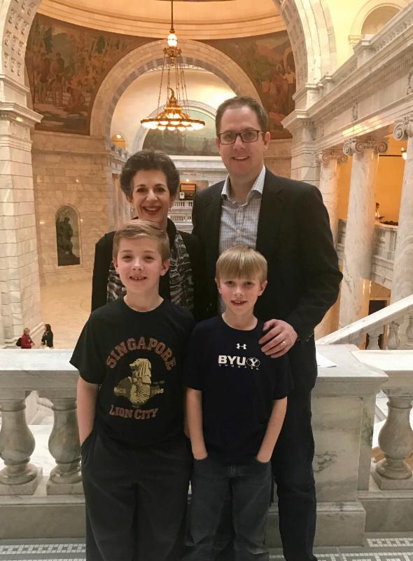 Former Utah Senate Intern and constituents Bryce Whittaker and his sons
