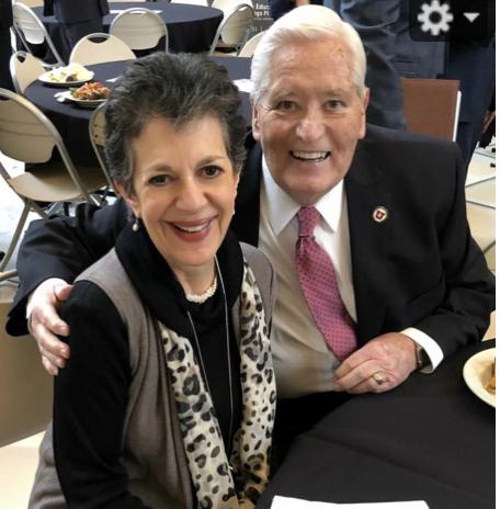 Rep. Arent and David Burton, Chairman of the University of Utah Board of Trustees