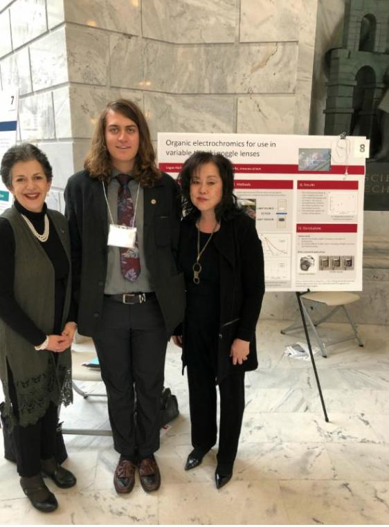 Representative Arent, U of U student Logan Kiefer, and Senator Iwamoto at Research on Capitol Hill day