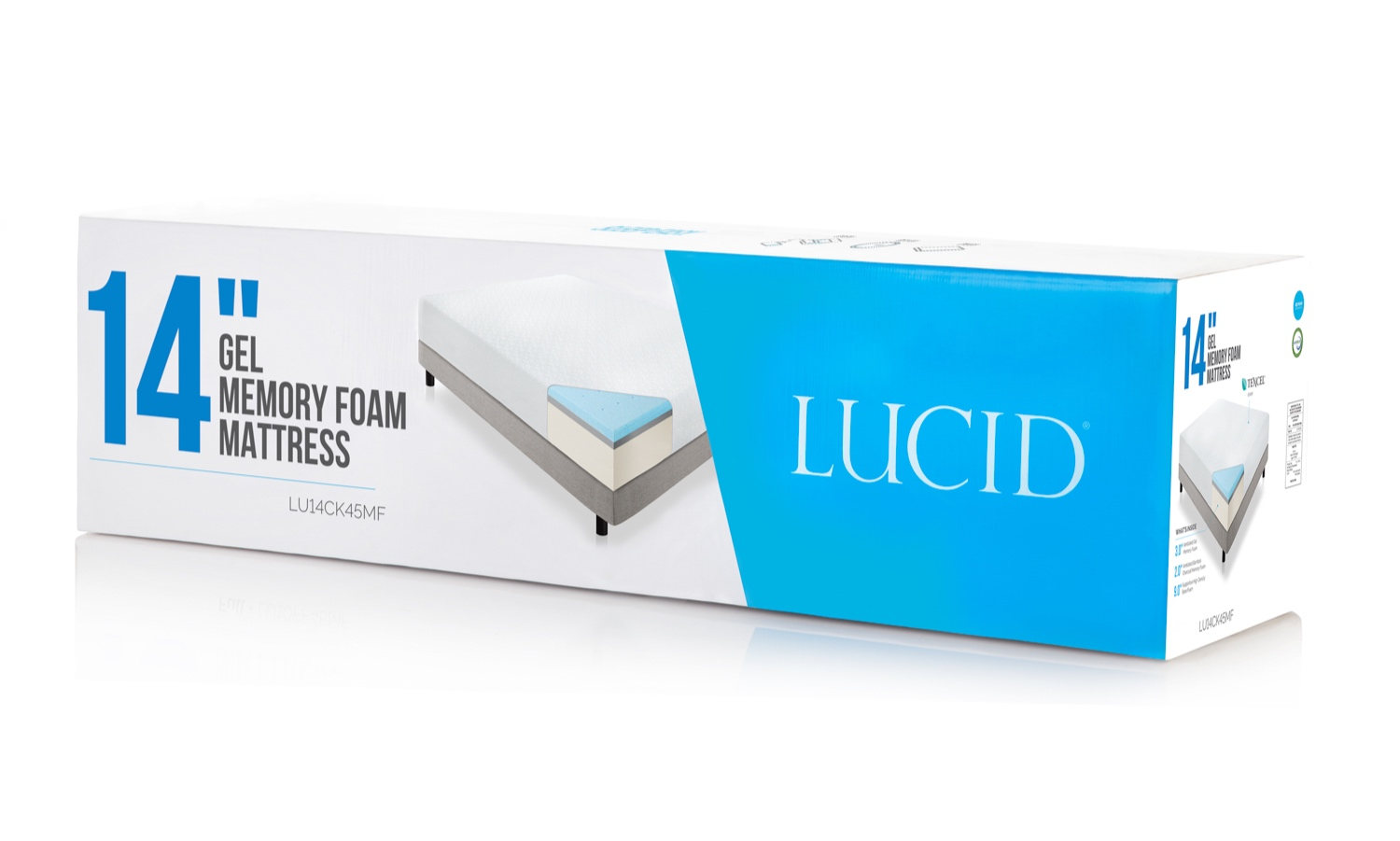 Lucid Mattresses Product & Package design