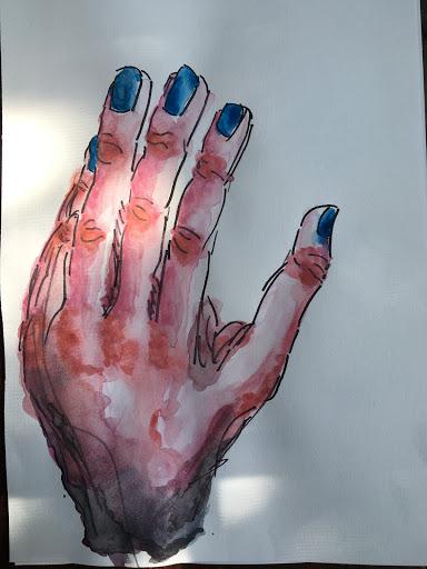 Art by  Sara Schubargo , who really likes hands.