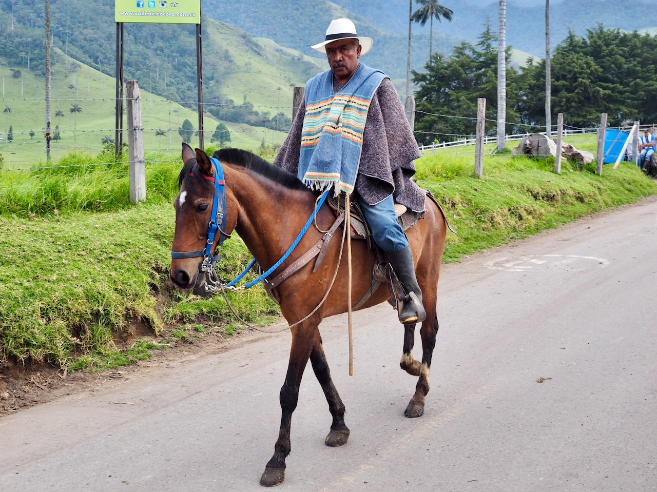 """There is always the option to get there the local way! This guy looks annoyed, but greeted us with a smile and a """"buenos dias"""" when he passed."""