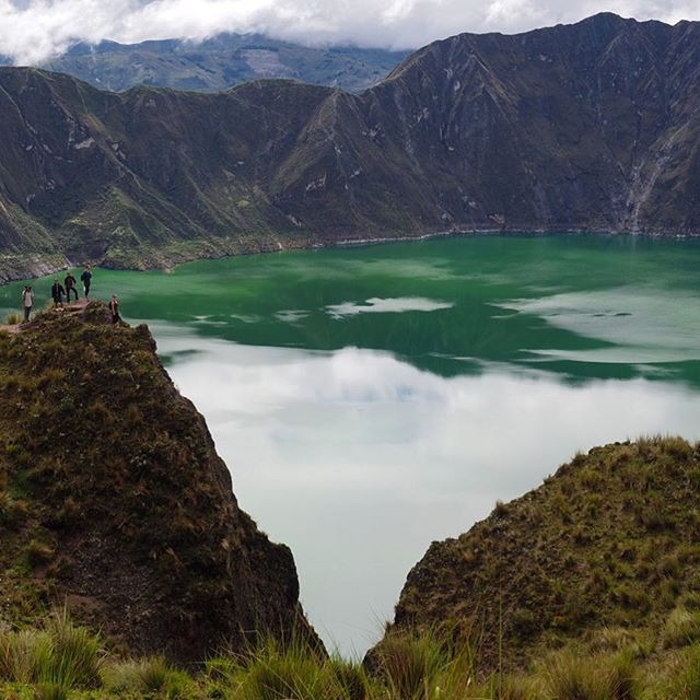 The photo of the hike goes to... _____________________ What a beautiful turquoise masterpiece the Laguna Quilotoa is! Get there in the morning for clearer skies (just the night before we could not see anything because of the fog and clouds!). ______________________ We highly recommend this hike to anyone traveling through Ecuador! Post coming soon with details.