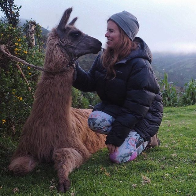 Llama cuddles might just be the best way to warm up as we spend our last night on the Quilotoa trail, after several days hiking through the rural rolling hills of Ecuador.  __________ This guy oddly loves humans, cuddles and salt. He scared us all, when he came bounding up to our group seeking love.  __________
