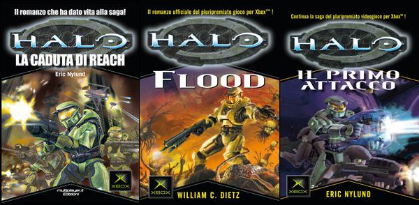 Tra i libri tratti dai Videogame, è possibile trovare la serie dedicata alla saga di Halo.