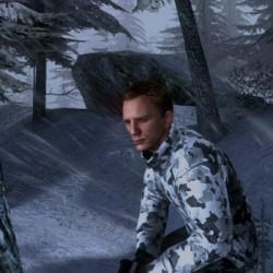 Il nostro algido Daniel. Vorrei veder voi, in mezzo al ghiaccio.
