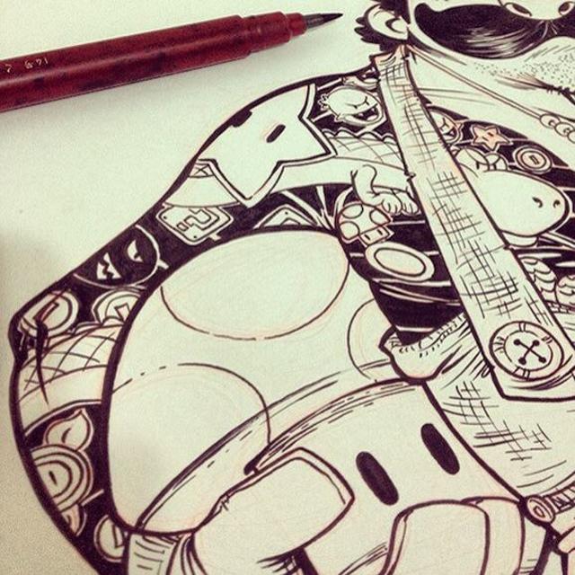 Eduardo-Vieira-Yakuza-Mario-Detail