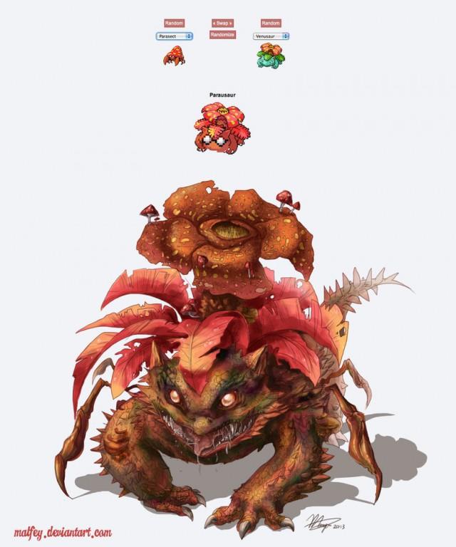 pokemon_fusion__parausaur_by_malfey-d67dylu