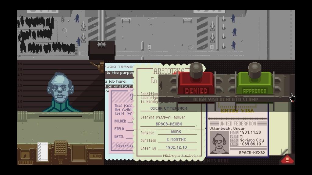 Questa è, praticamente, l'unica cosa che vedremo nel gioco: fila, muro, soldati, gabbiotto, disperati, documenti.