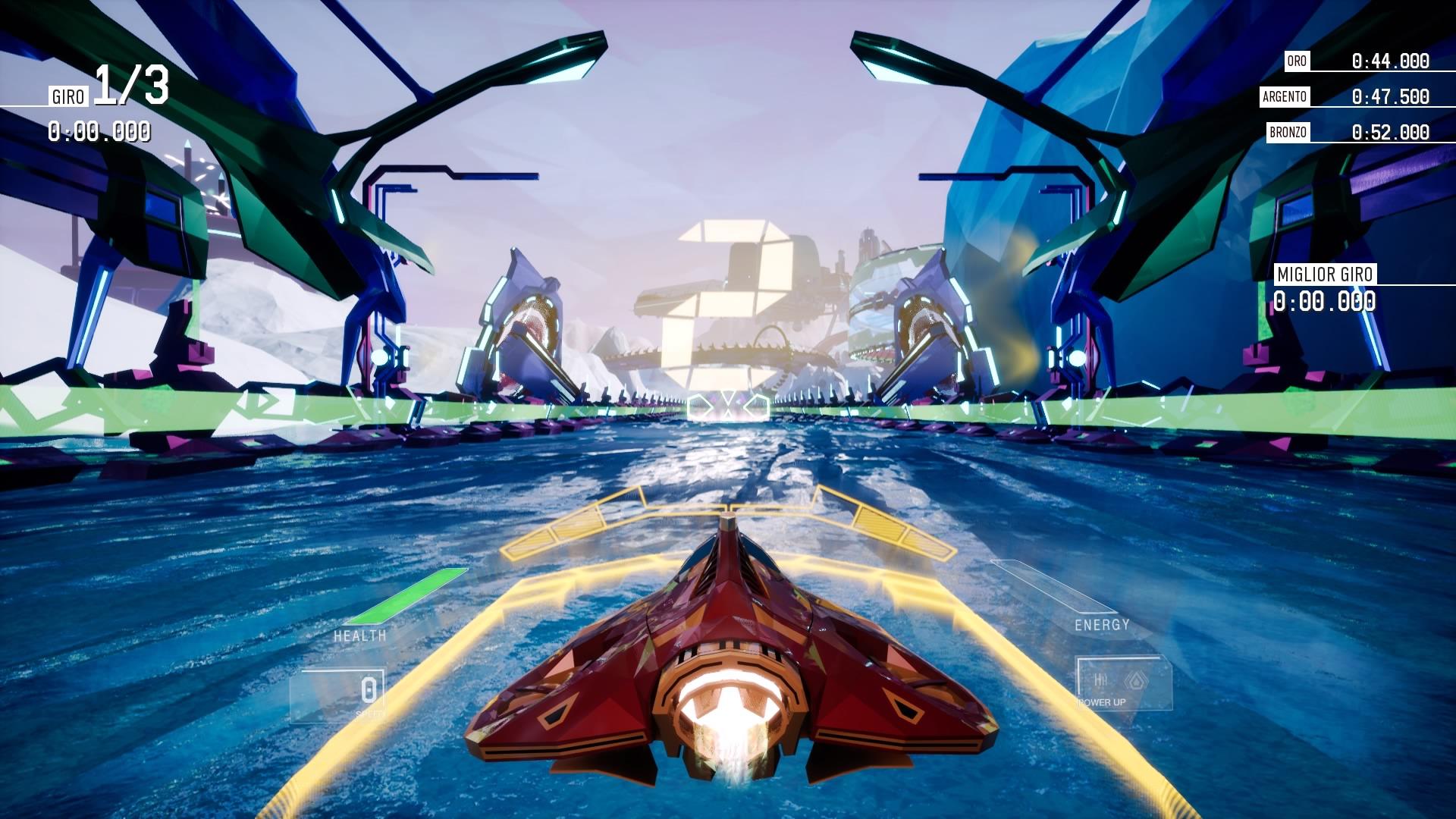 Come sempre in questo genere, andando avanti nel gioco si possono ovviamente sbloccare altre navicelle, nuove piste, ambientazioni e tipologie di gara.
