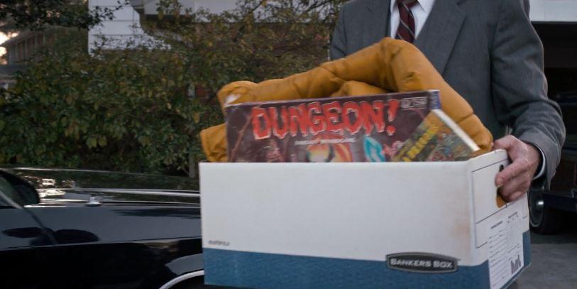In quella scatola c'è  DUNGEON! ,il nobile antenato da tavolo di  D&D  del 1981!