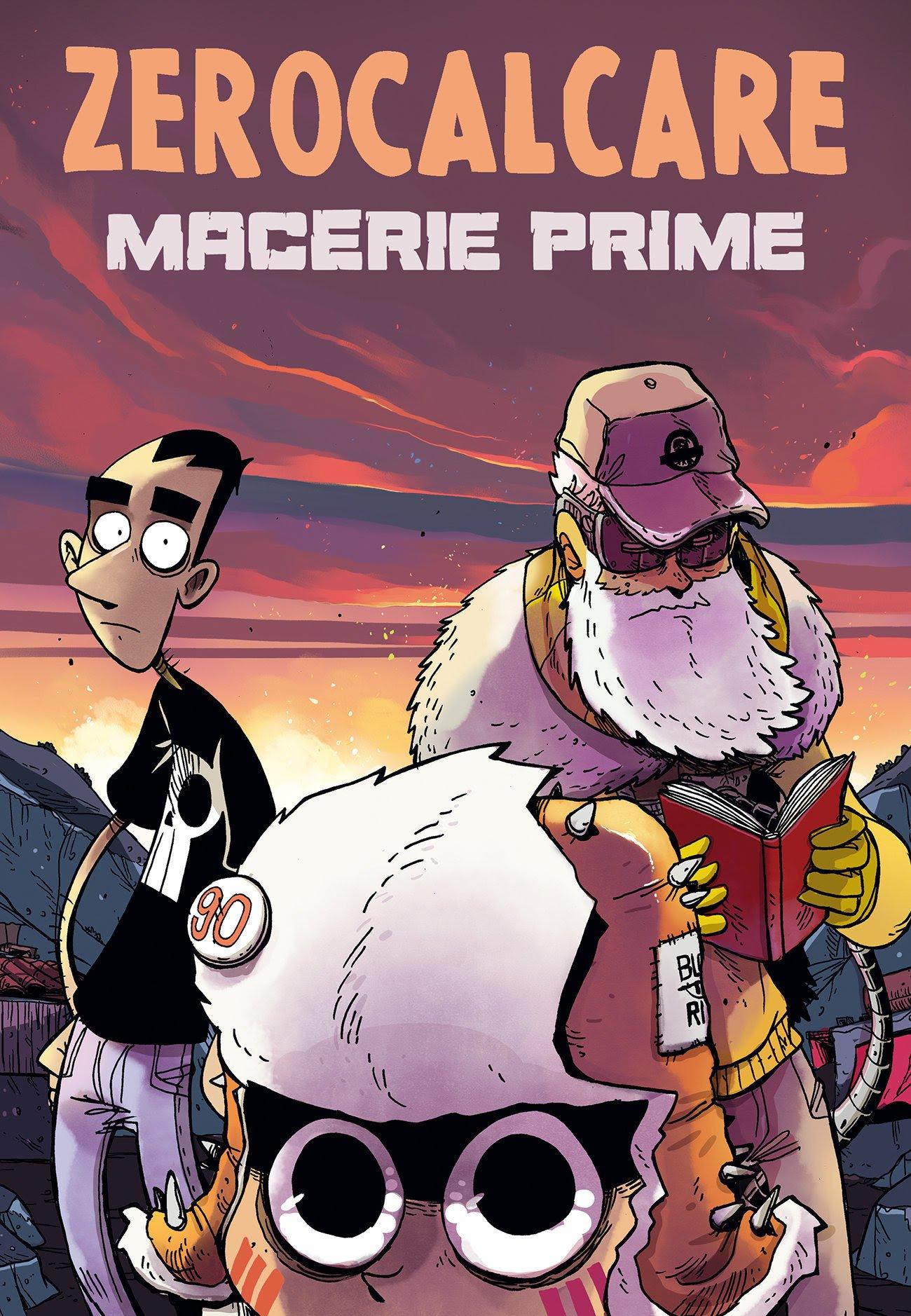 La copertina regolare di  Macerie prime,  colorata da Alberto Madrigal.