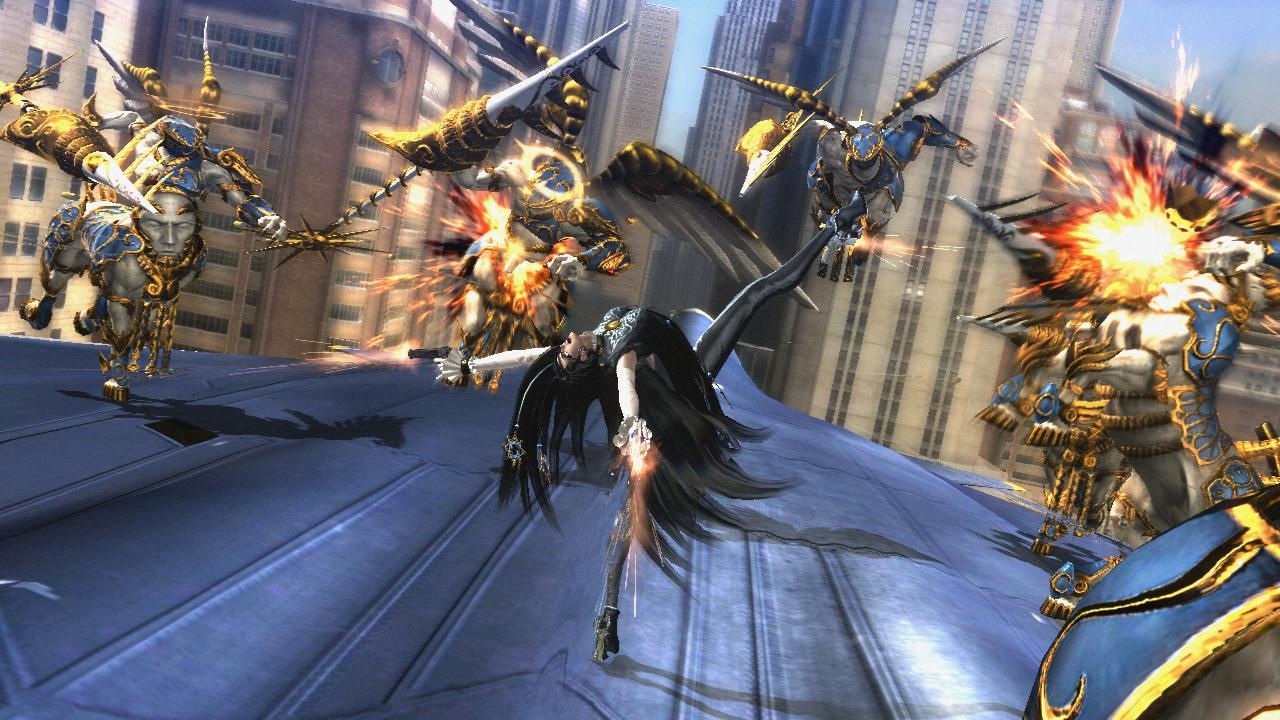 Questa è Bayonetta in  Bayonetta 2 , si riconosce perché è TUTTO PAZZISSIMO.
