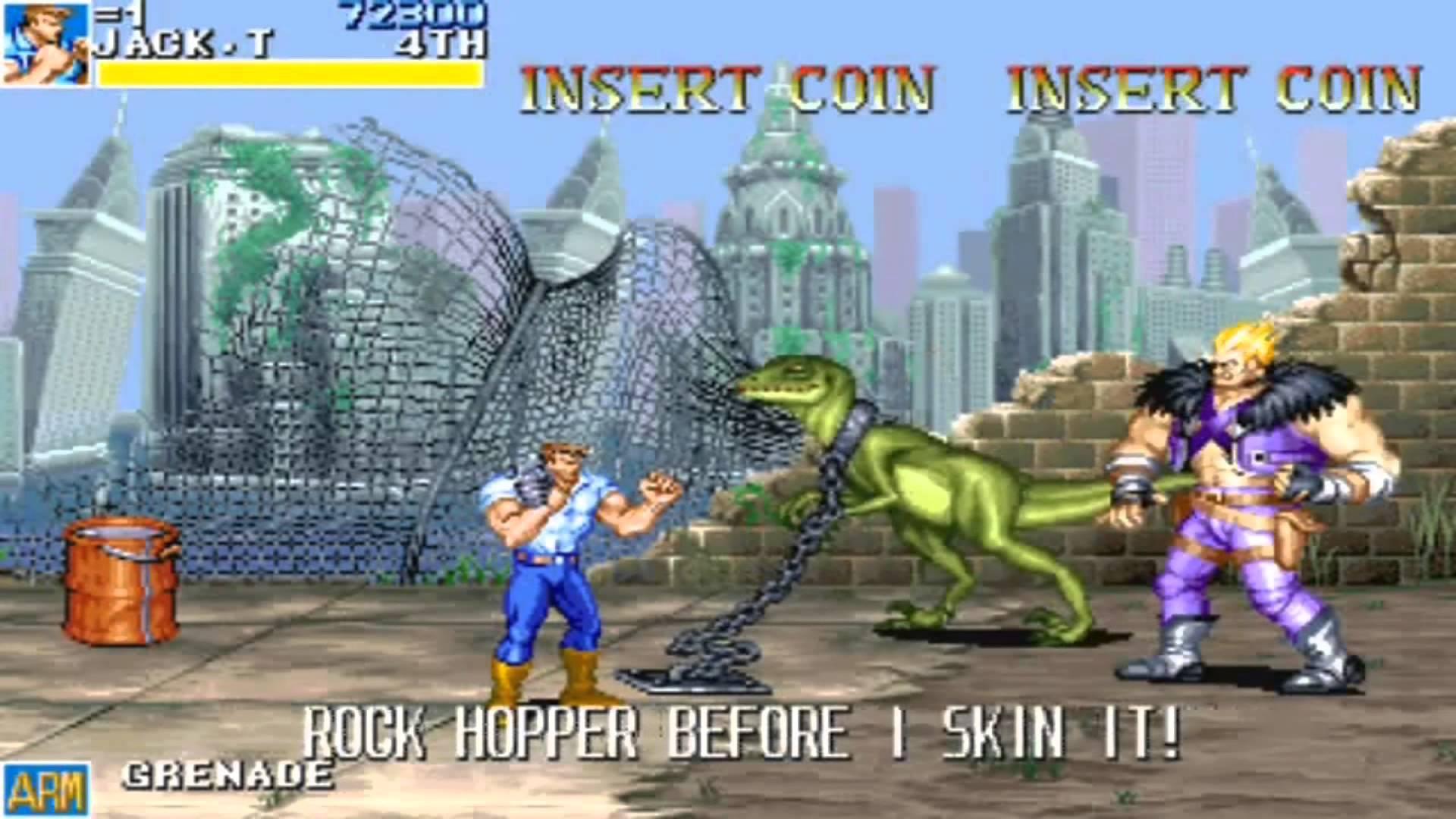 Quando l'uomo a mani nude incontra il punk con il dinosauro...