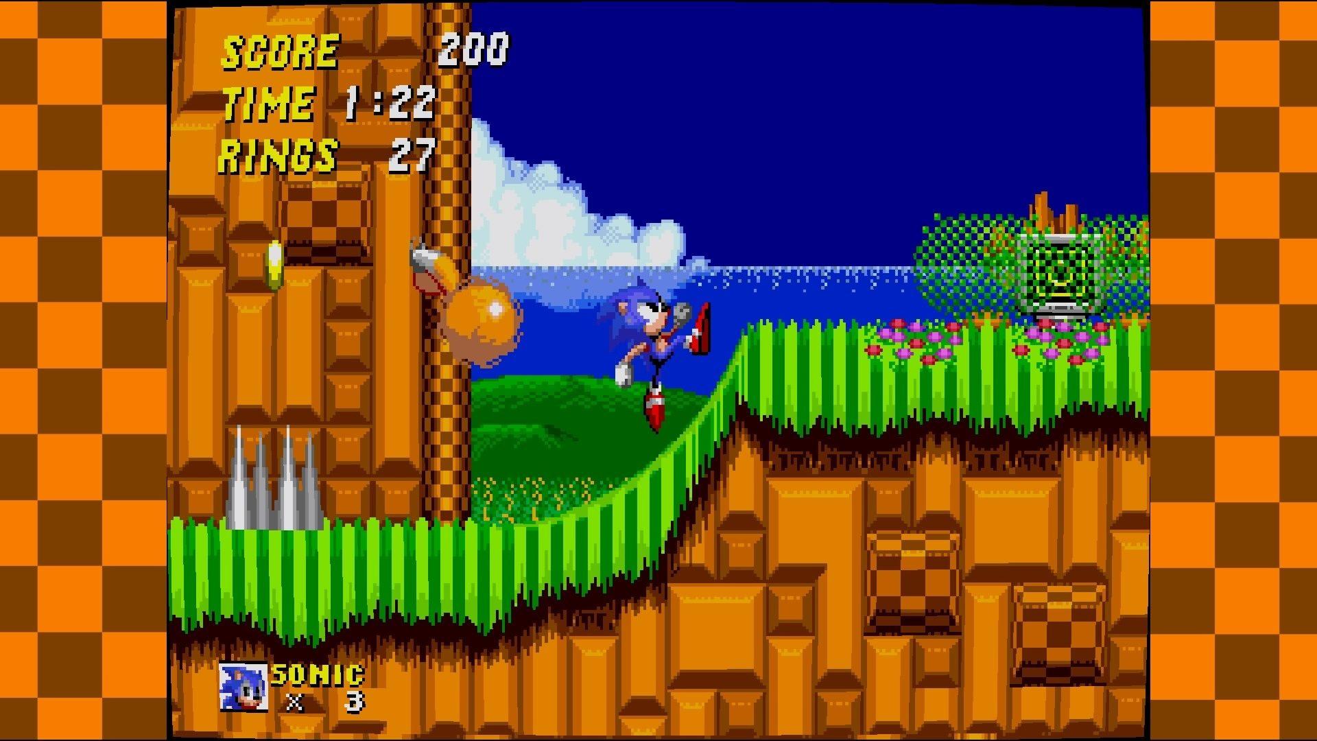 Sonic ha anche una cornice creata appositamente per lui.