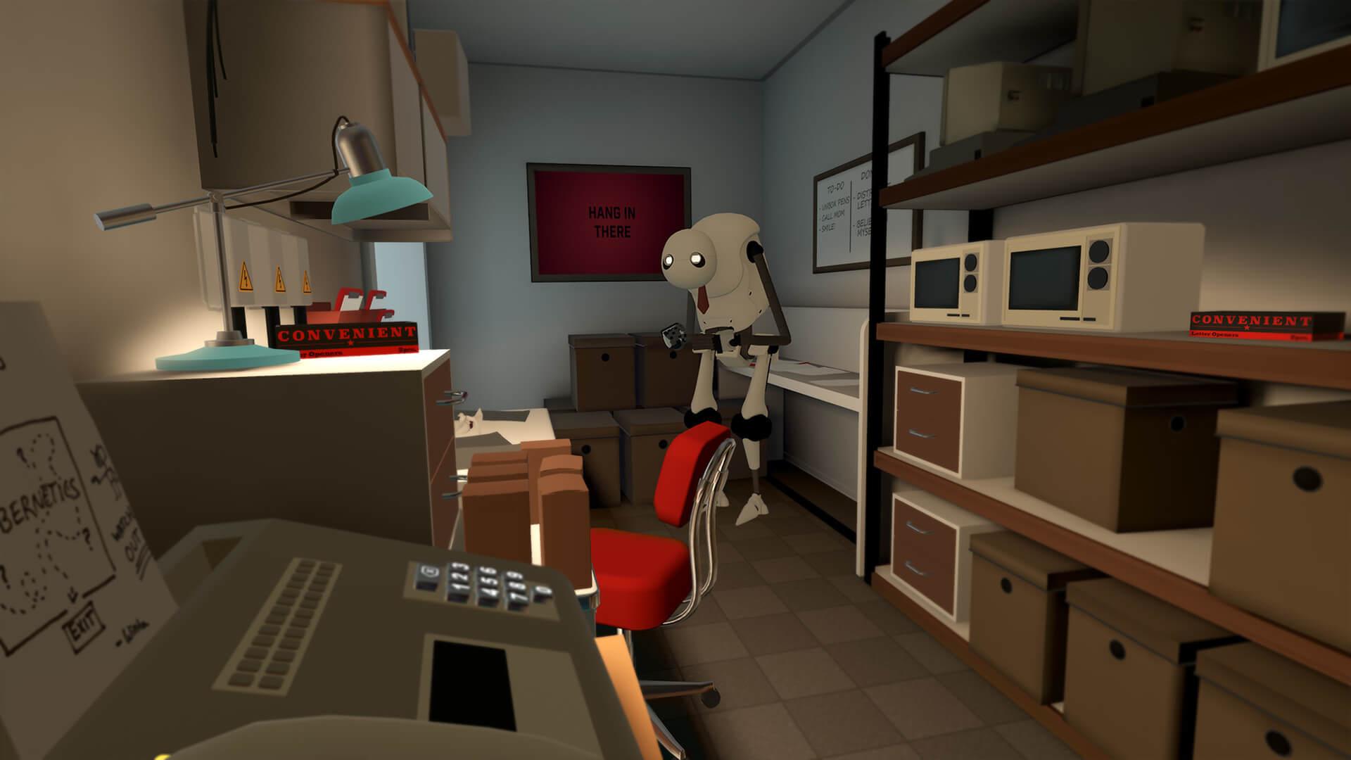 I robot buoni ed innocui che si incontrano sono una versione aziendalista di Marvin, il Paranoid Android della  Guida Galattica .
