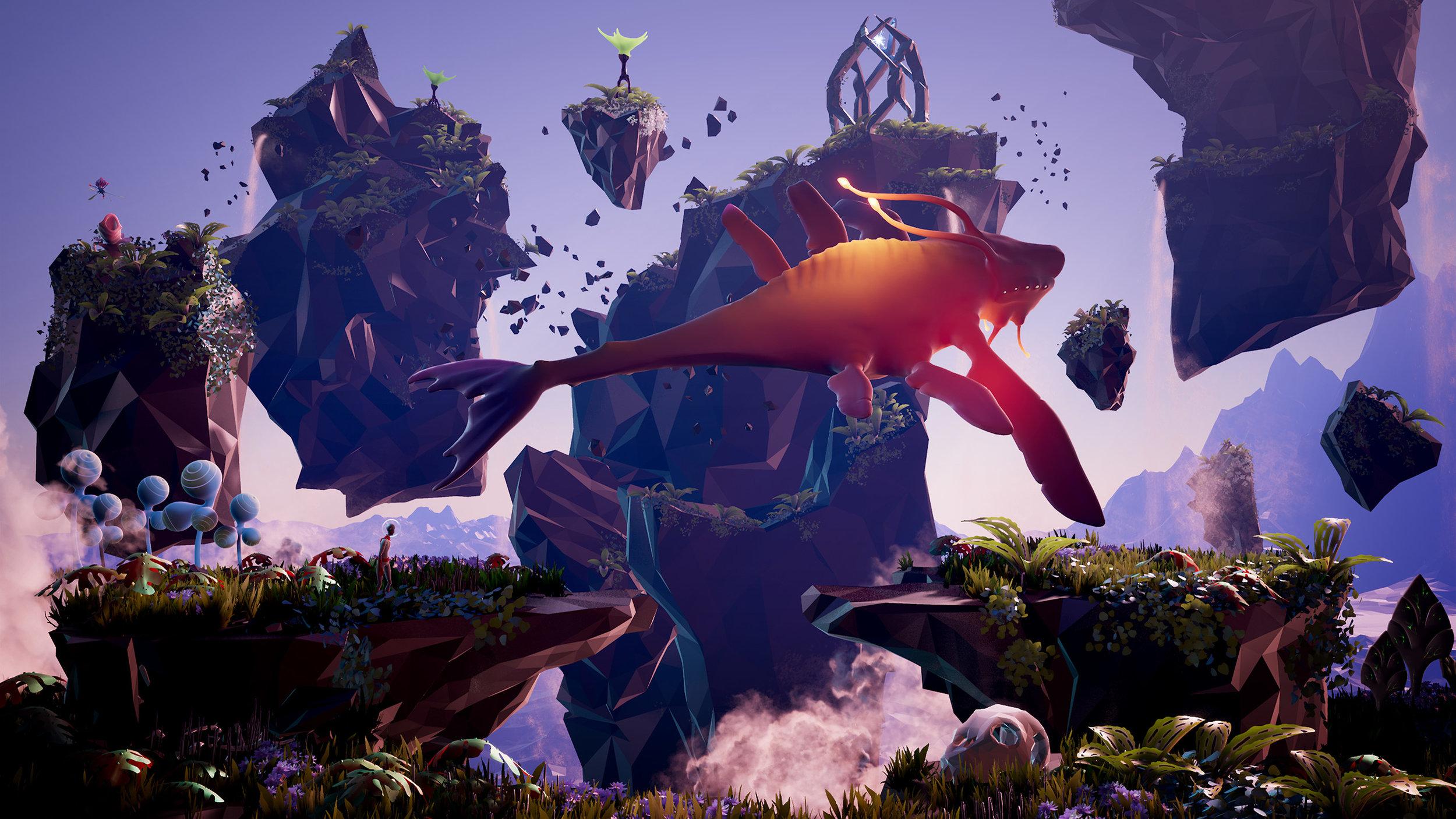 I panorami surreali che si susseguono costituiscono la parte migliore di  Planet Alpha.