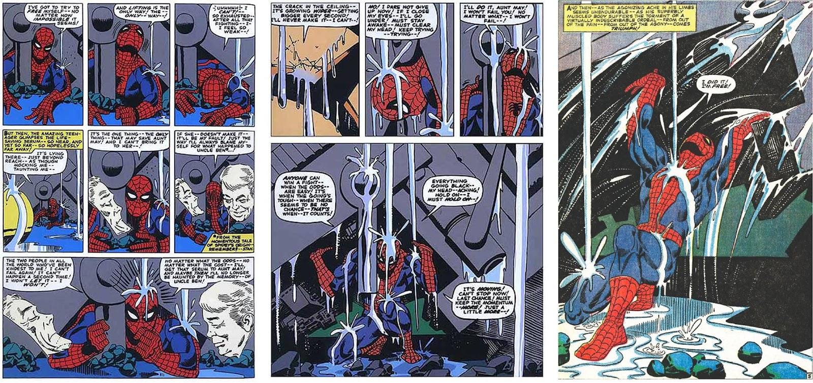 Una delle scene più famose nella storia di Spider-Man, in  Capitolo Finale . La rivalsa dell'eroe, l'epica, il leit motiv degli shonen. Lì si sarebbe trasformato in Super Sayan, tipo.