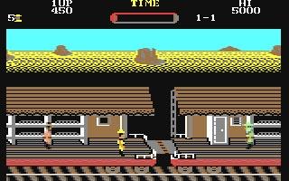 La conversione per Commodore 64, uscita in Europa solo in compilation, almeno secondo me, faceva cagarissimo. Alcuni la difendono, ma solo per scarso senso critico e lacunosa capacità di contestualizzazione storica.