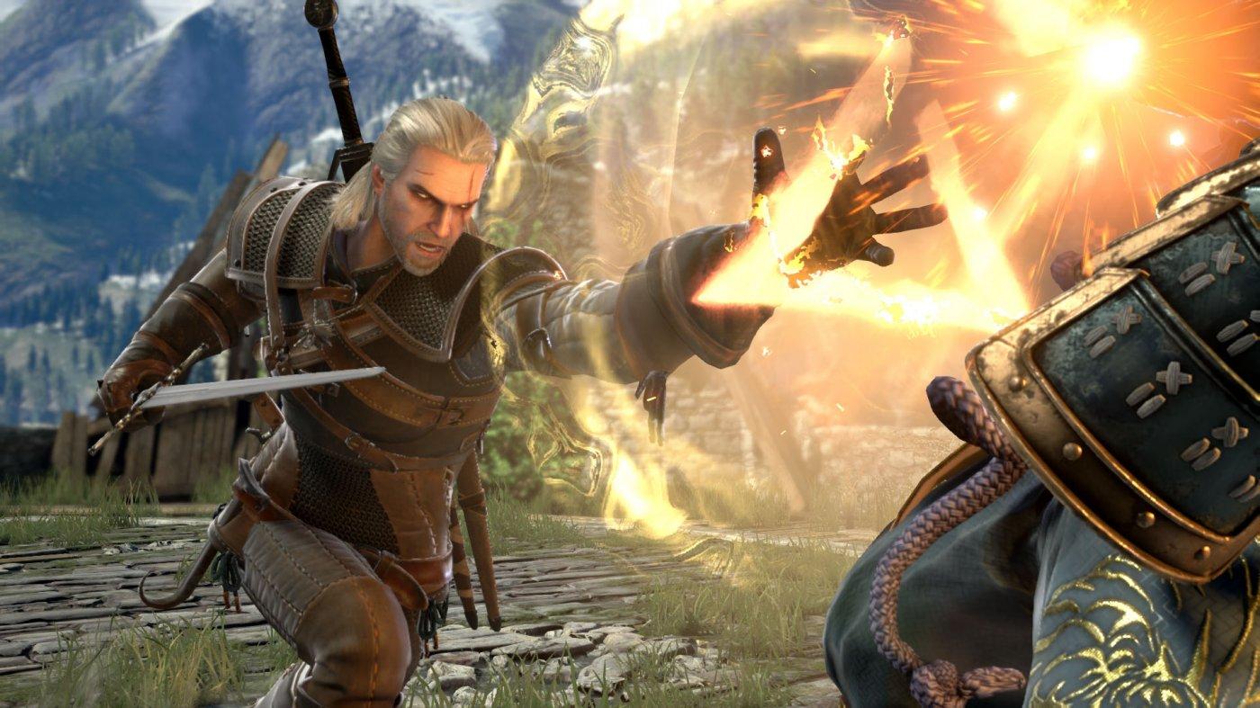 Geralt di Rivia, primo personaggio cammeo, è realizzato magnificamente