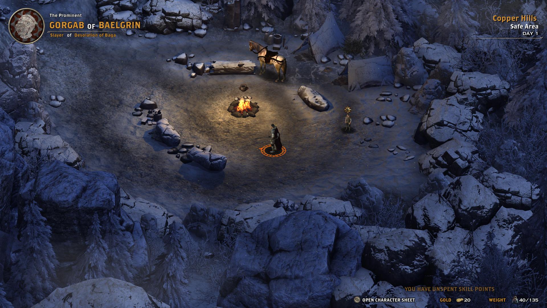 Gli accampamenti sono fondamentali per pianificare le battaglie.