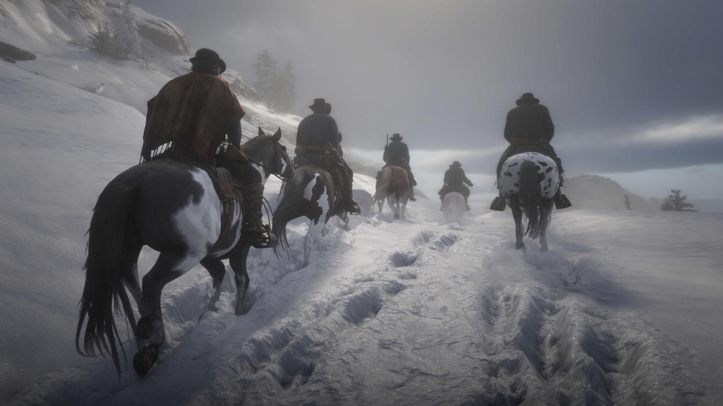 La neve, inaspettatamente fra i principali intrattenimenti dei giocatori in  Red Dead Redemption 2 .