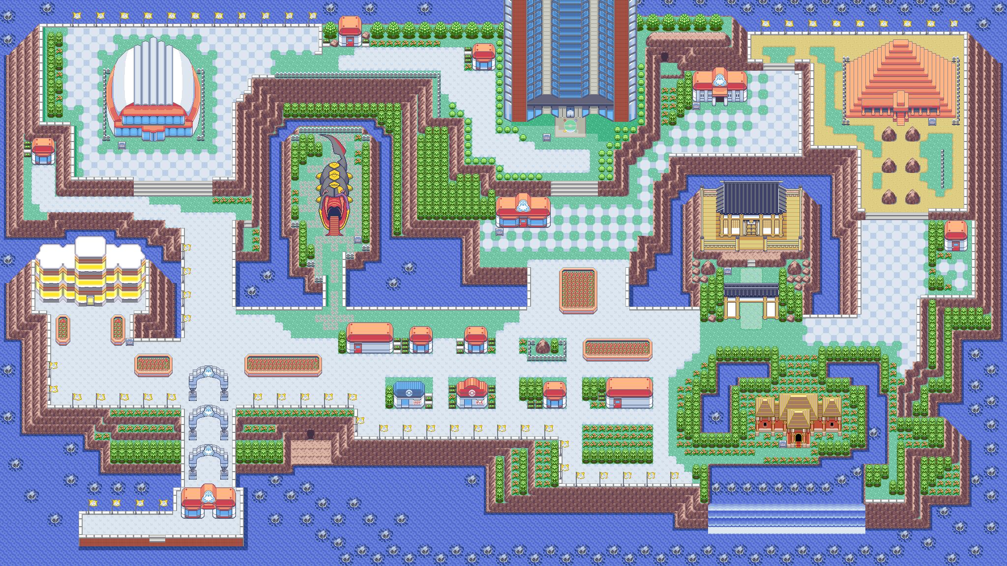Smeraldo  vide l'introduzione della Battle Frontier, stupendo parco-lotta gigante pieno di attività pazze ma bellissime.