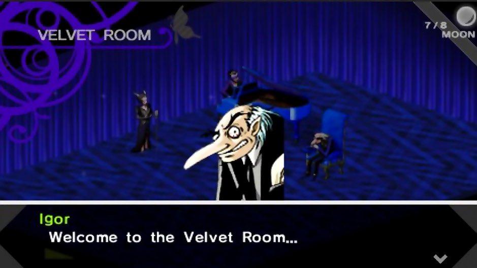 La prima Velvet Room, in tutto il suo twinpeaksoso citazionismo.