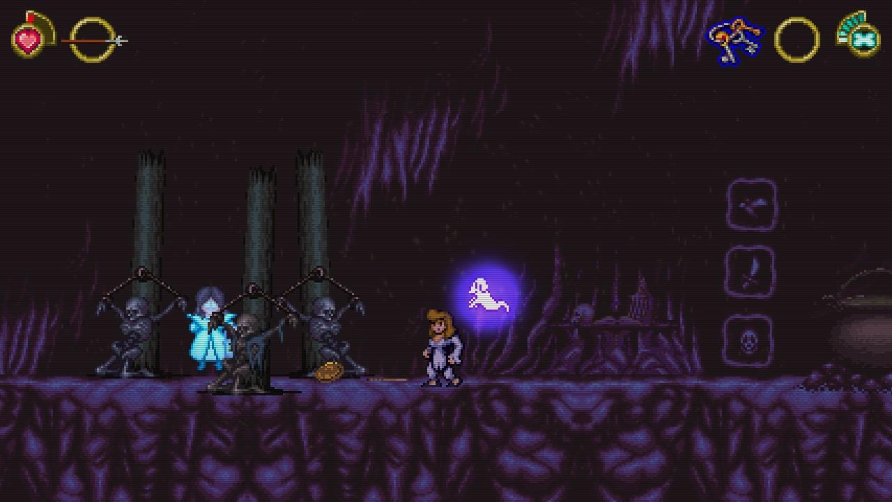 La grafica è, insieme alla colonna sonora, l'aspetto più convincente di  Battle Princess Madelyn .