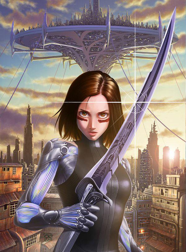 Il poster del film realizzato da Yukito Kishiro.