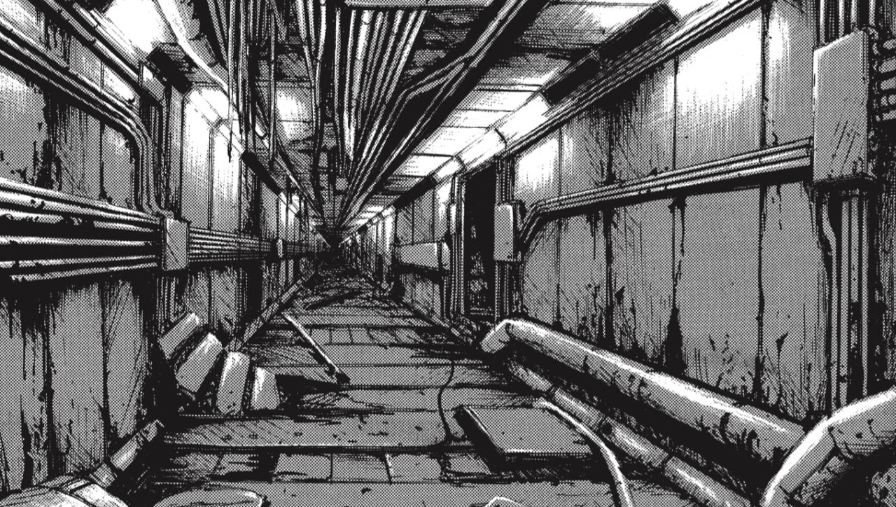 BLAME! - Forse, un suono, alla fine del corridoio.