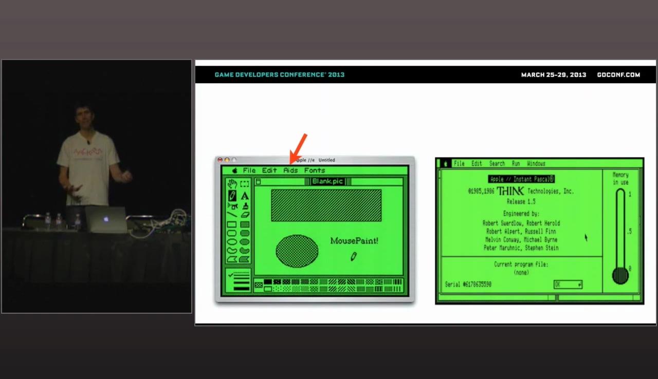 """Fun fact: questo programma venne pubblicato prima che esplodesse il dramma dell'AIDS. Quella funzione, in  Mac Paint , venne ribattezzata """"Goodies""""."""