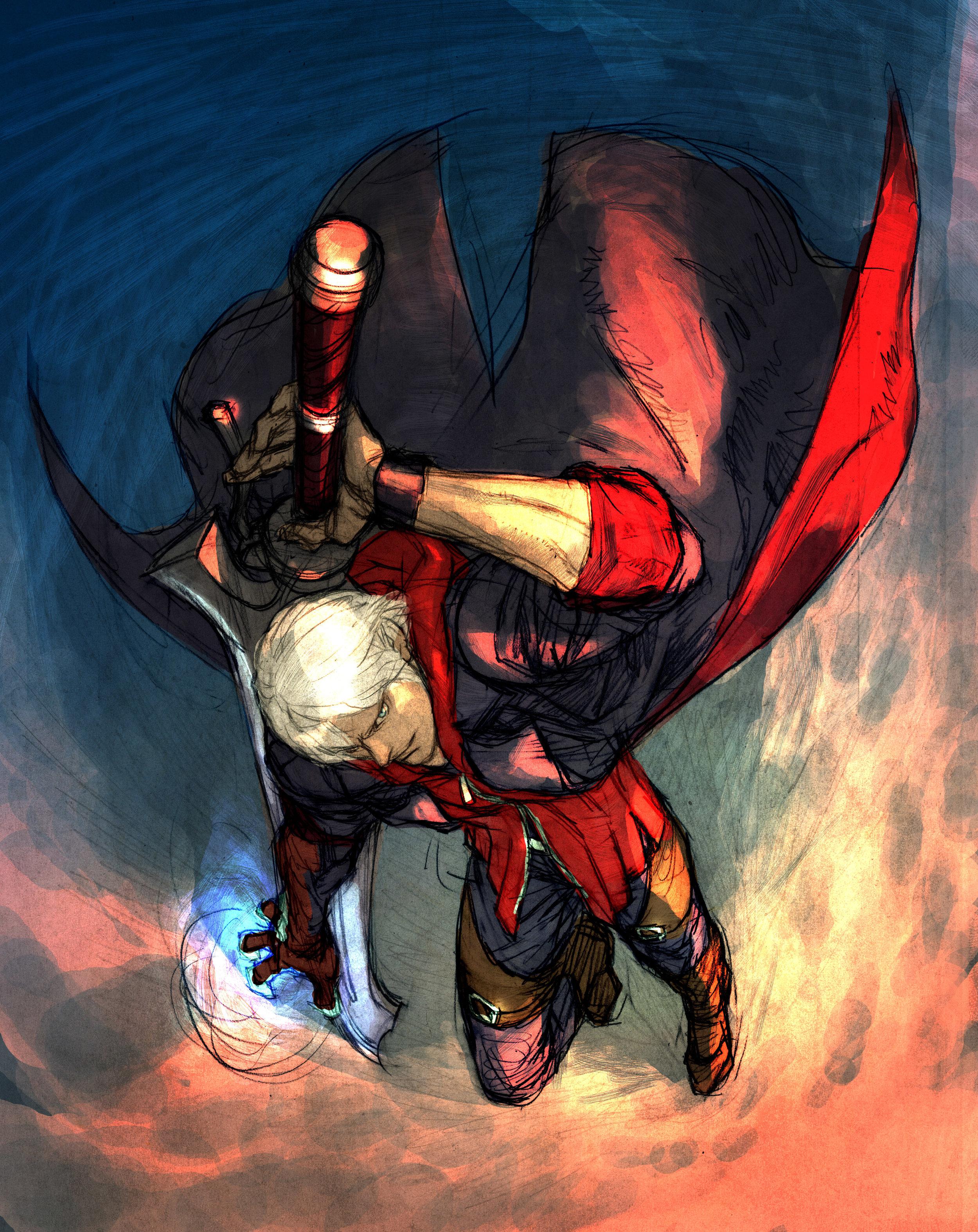 Con questo artwork, Capcom voleva chiaramente spiegare che Nero non è il solito stronzo alla Raiden.