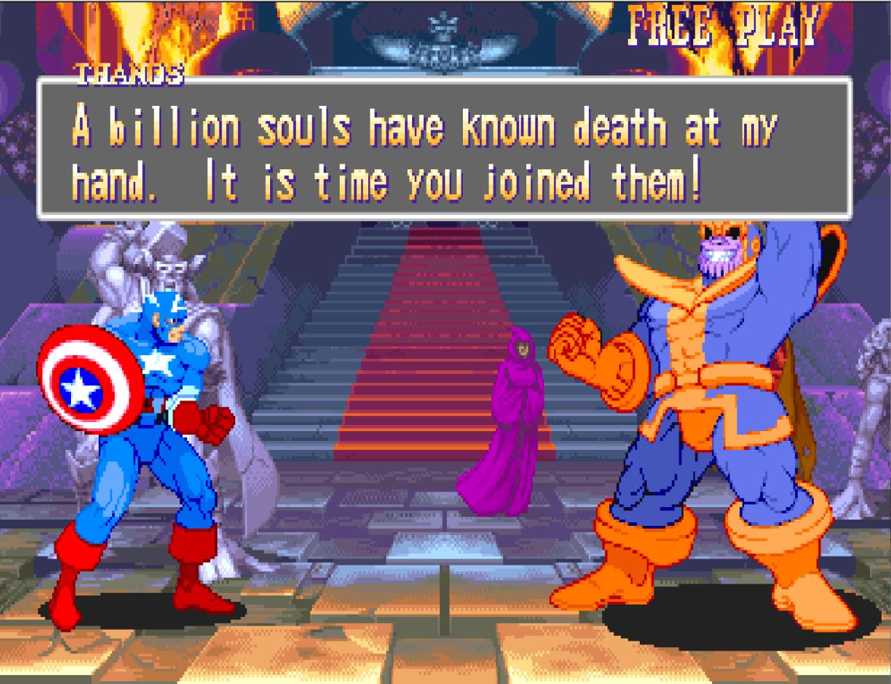 Thanos dove va va, schiocca le dita.