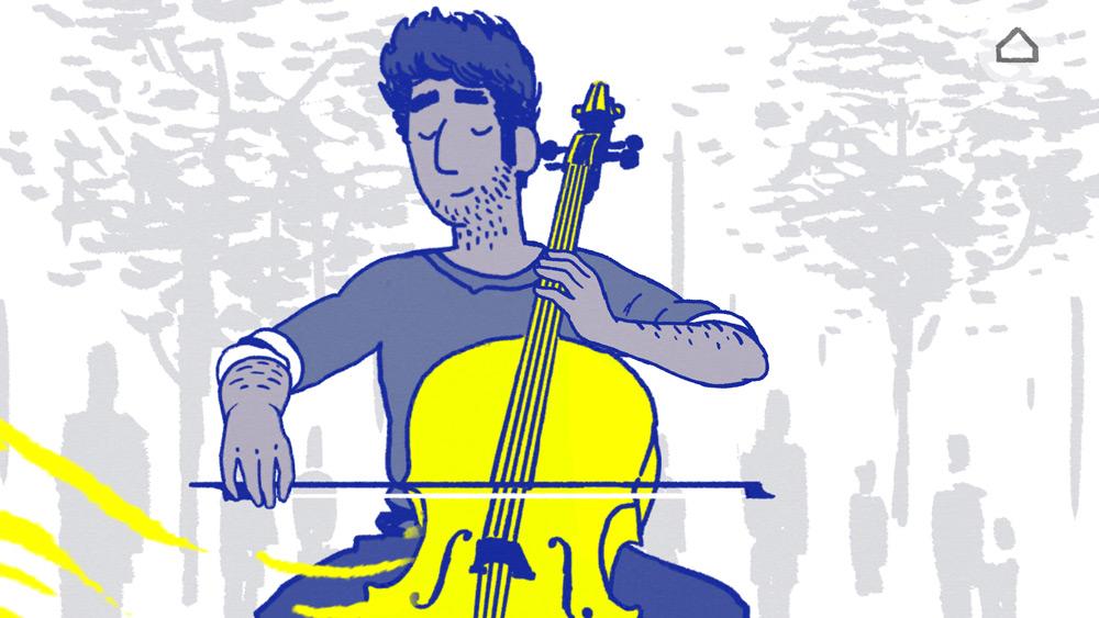 """Il sound design caratterizza Krish, che suona il violoncello, e Florence, accompagnata dalle note di un pianoforte. Secondo Wong, le loro litigate rappresentano un violoncello e un pianoforte """"che si picchiano""""."""