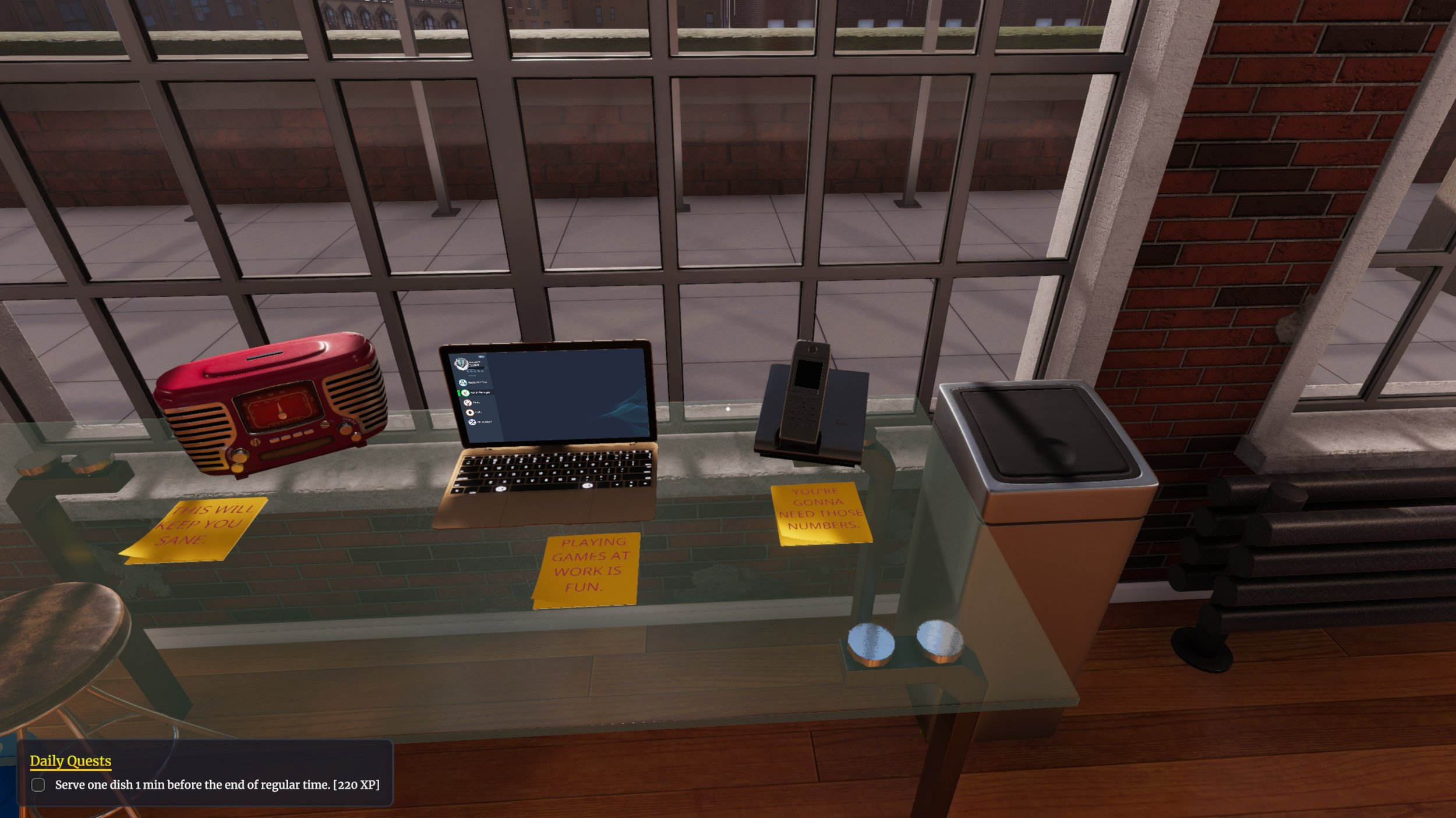 In caso di emergenza, rompere il vetro e ordinare su Deliveroo.