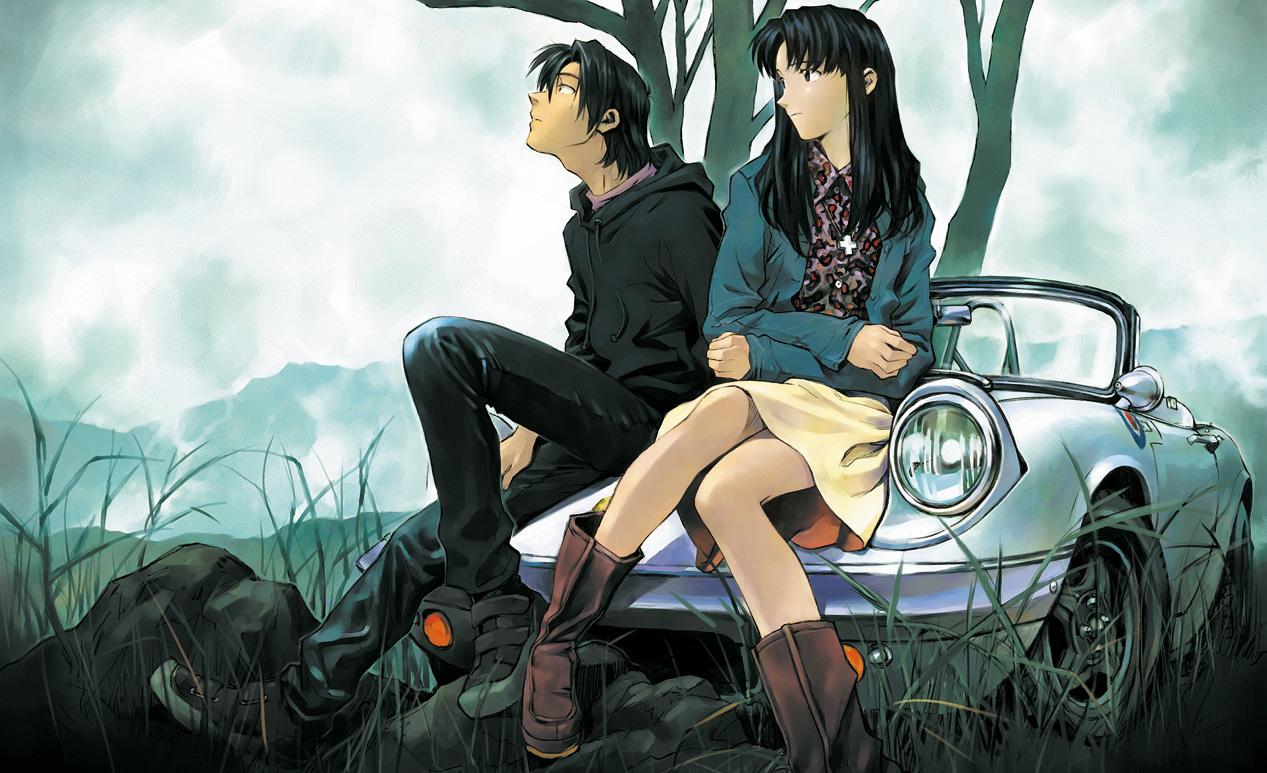 Un'illustrazione di Yoshiyuki Sadamoto, character designer di  Neon Genesis Evangelion .