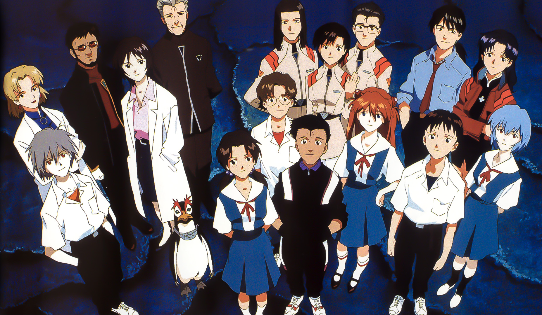 """Il """"cast"""" di  Neon Genesis Evangelion ."""
