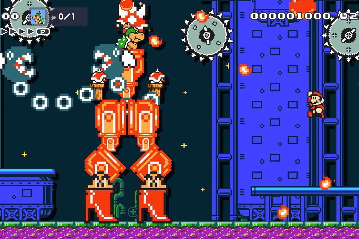 Signore e signori, lui, Mecha Bowzilla, in tutto il suo splendore di  Super Mario Maker 2 !