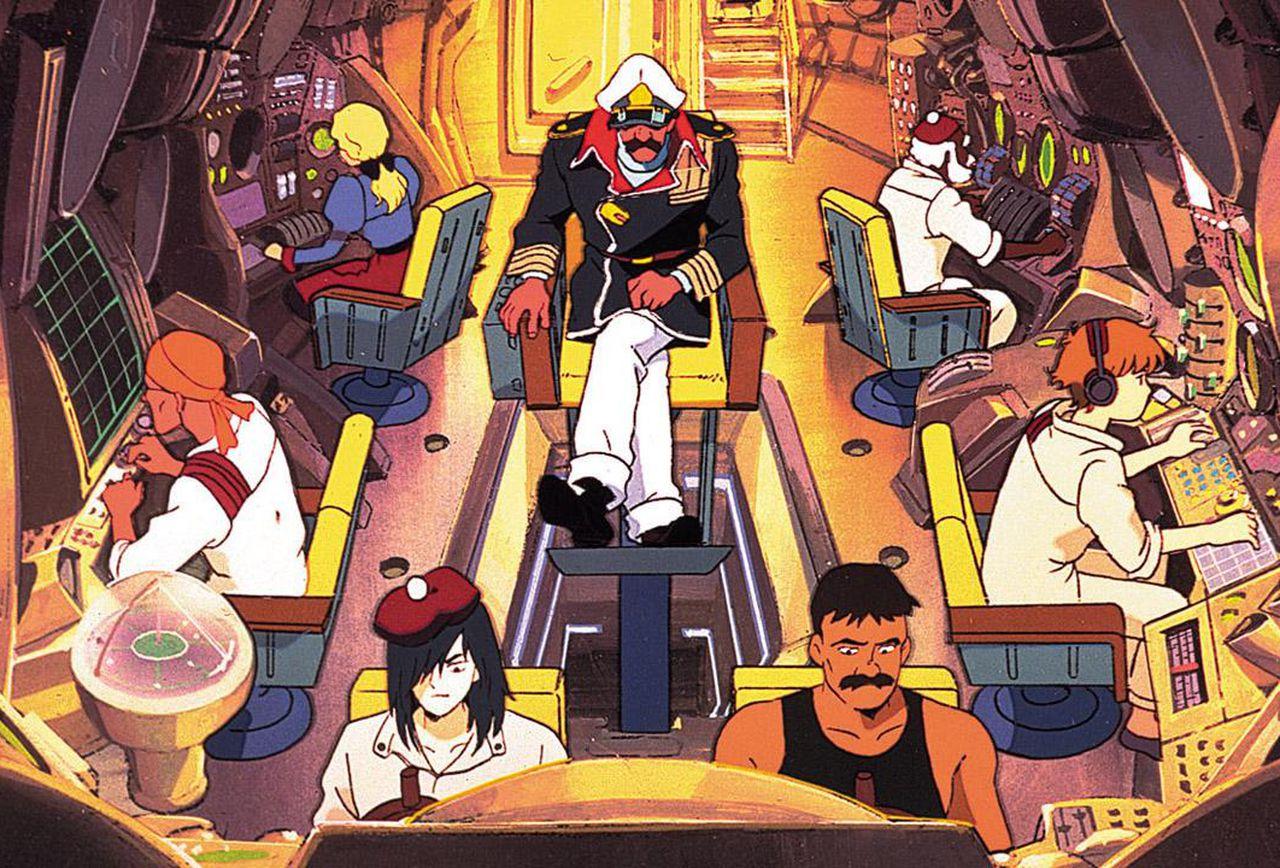 La cabina di comando del Nautilus. Nemo, per design, ricorda un po' il Bruno J. Global di  Macross  e l'Harlock di Leiji Matsumoto.