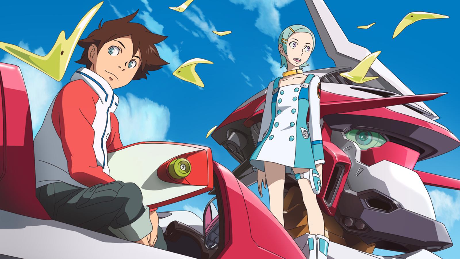 Renton, Eureka e il Nirvash. Il character design (sicuramente più ispirato della controparte mecha) è opera di Kenichi Yoshida.