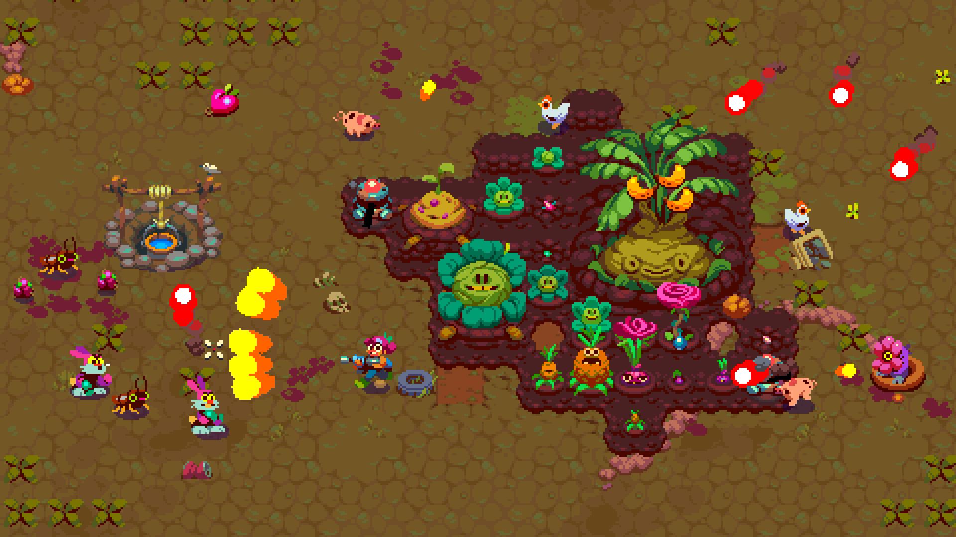 La fattoria è un po'  Stardew Valley,  un po'  Plants vs. Zombies.
