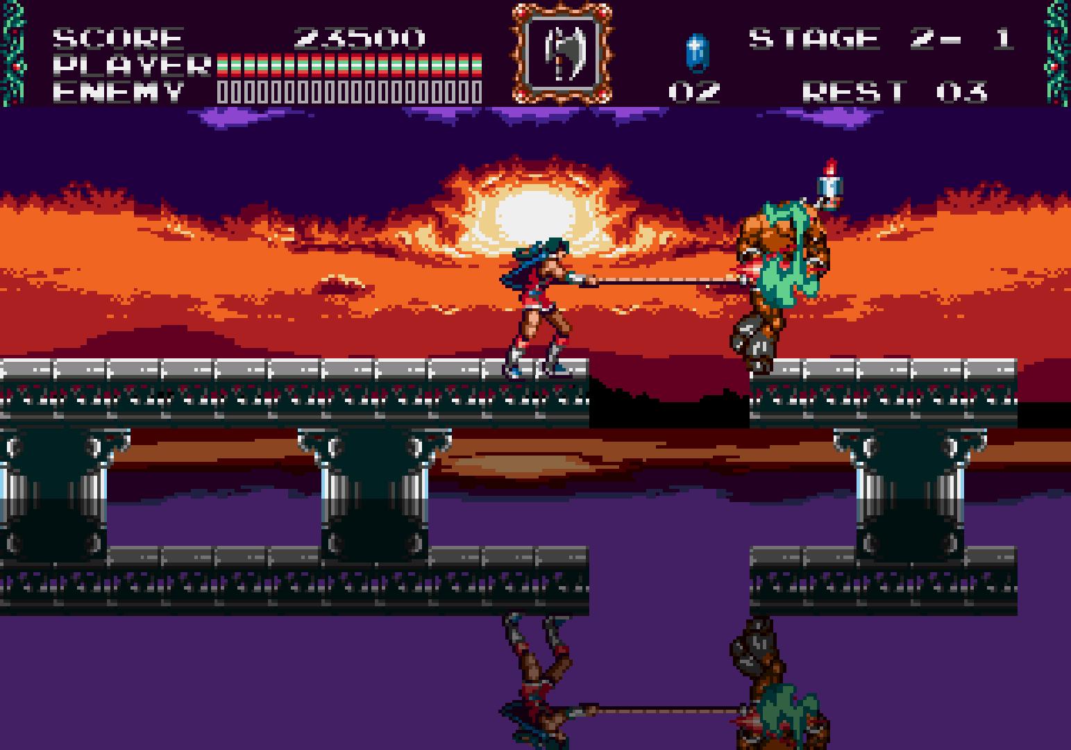Uno degli stage più iconici, con uno straordinario (per i tempi e per il Mega Drive) effetto di riflesso e distorsione dell'immagine.