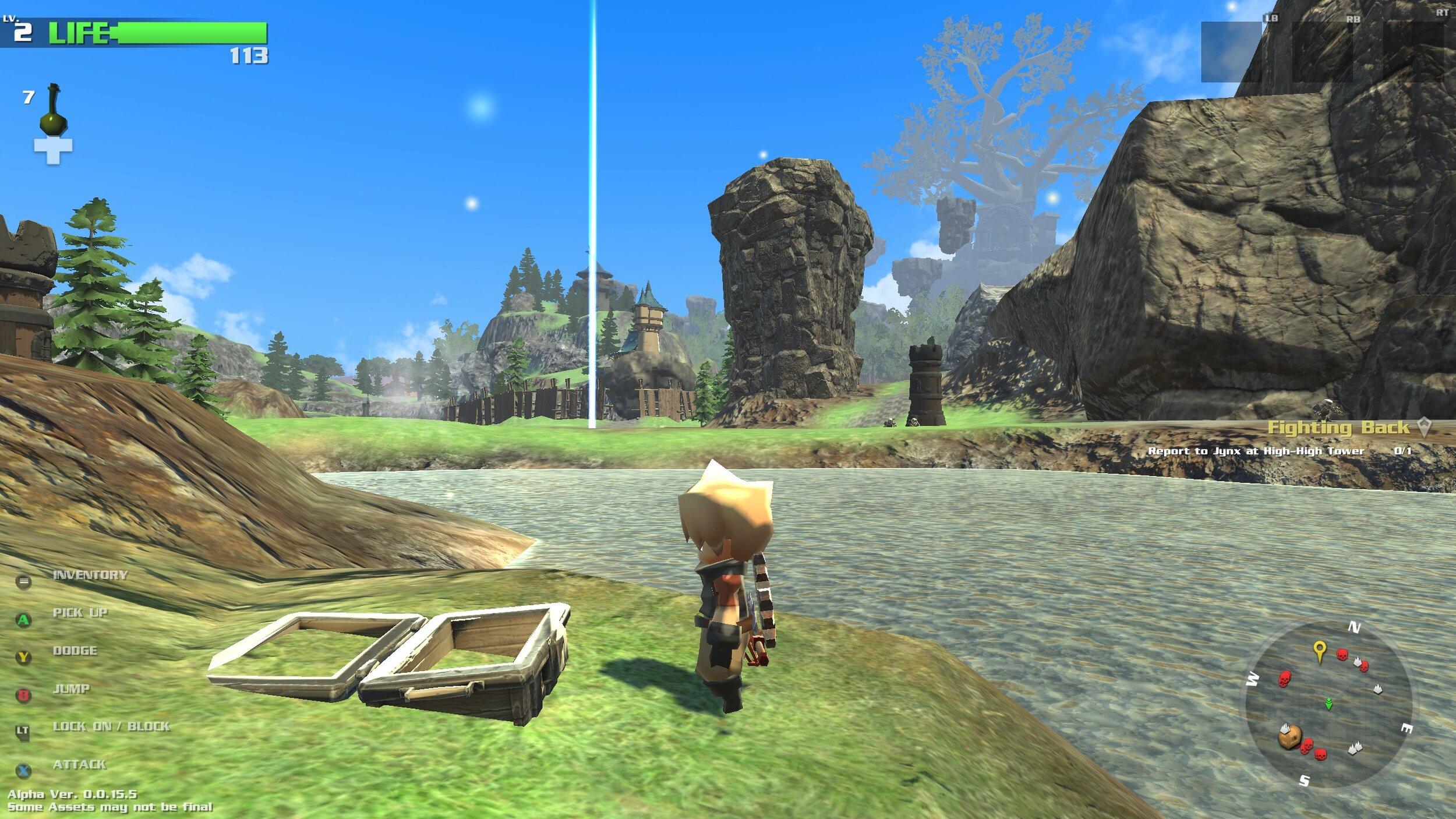 Nonostante la fase di Alpha, i paesaggi mostrati sono carini.